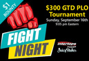$300 GTD PLO Fight Night - Omaha Bounty Tournament