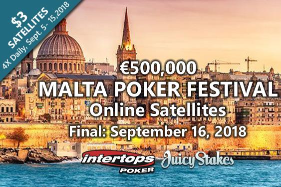 Online Satellites: €500K GTD Malta Poker Festival