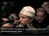 Peter Eastgate WSOP 2008 Winner Exclusive Interview