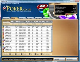PokerCoUk Lobby