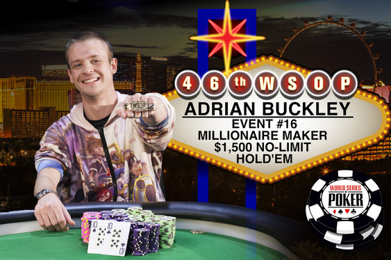 Adrian Buckley Becomes a WSOP Millionaire