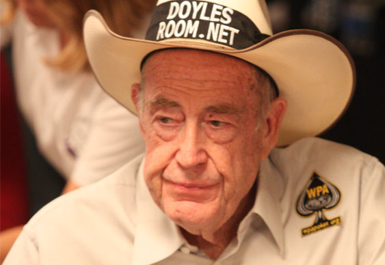 Doyle Brunson Loses his Poker Face