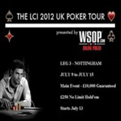 LCI UK Poker Tour Nottingham Main Event starts today