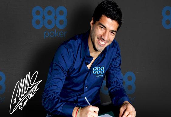888 Poker Drops Luis Suarez