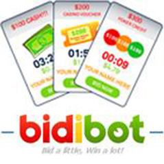 New penny auction site Bidibot.com open for business