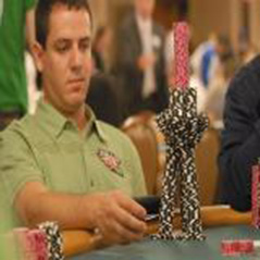 Carlos Mortensen leading his fifth World Poker Tour final at LAPC