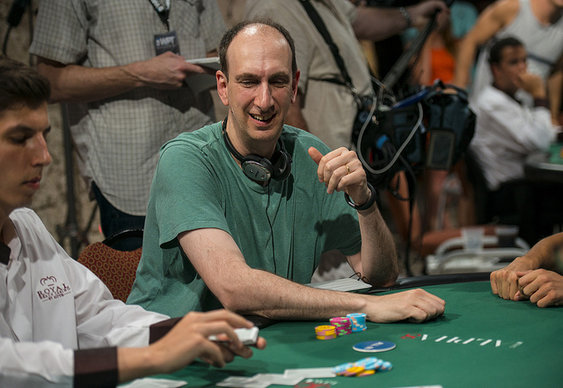 Erik Seidel leading final of World Poker Tour $100k event. Obv.