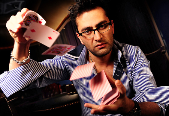 Antonio Esfandiari Shows Off His Magic Skills