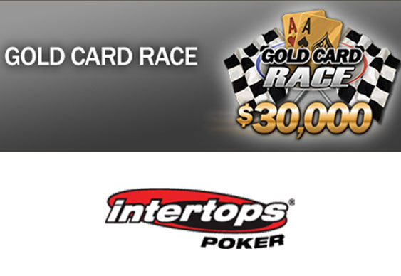 $30k to be won in Intertops Poker's Gold Card Race