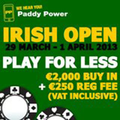 Extra Irish Open seats on offer at Paddy Power