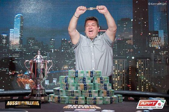 Manny Stavropoulus wins Aussie Millions
