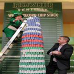 Paddy Power Poker sets chip stack world record