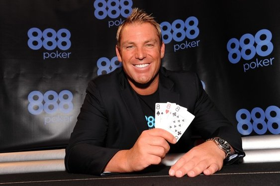 Shane Warne Splits with 888