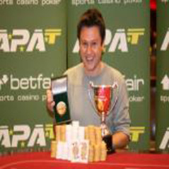 Tod Wood is APAT English Amateur Poker champion